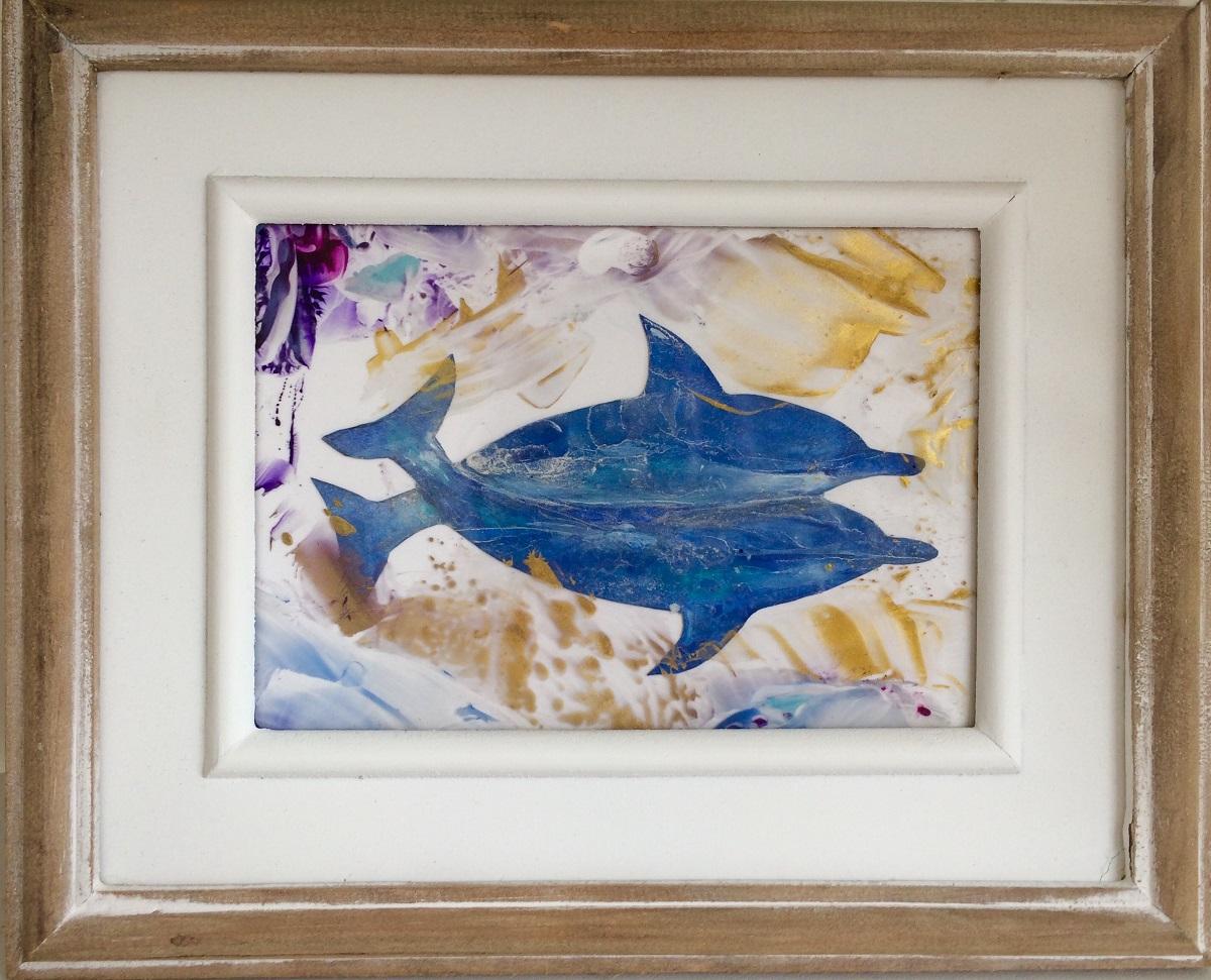 dolfijnen schilderij