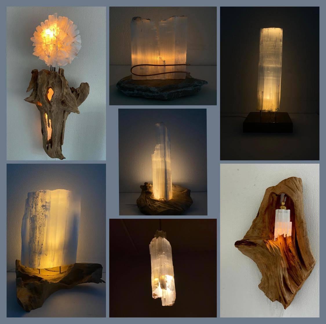 Lampen van Selenietsteen